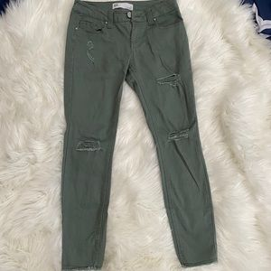 RSQ size 3 army green Baja Ankle jeans